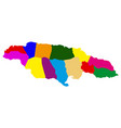 political map of jamaica vector image