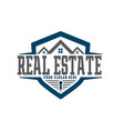real estate care and shield logo designs vector image