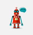 retro vintage funny robot icon in flat vector image vector image