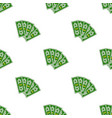 seamless pattern dollars bill cartoon money flat vector image