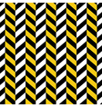 seamless pattern yellow black geometric vector image vector image