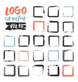 Set of 21 unique ink sketched shapes vector image