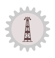 Silhouette of oil fountain in gear vector image vector image