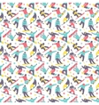 Snowboard seamless pattern vector image vector image