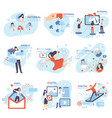 social mobile email referral digital marketing vector image