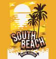 south beach miami florida summer poster design vector image vector image
