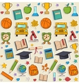 Sticker school pattern vector image vector image