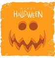 surprised pumpkin face for halloween vector image vector image