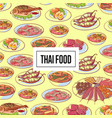 thai food poster with asian cuisine dishes vector image vector image