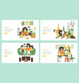 time family quarantine classes isolated flat vector image vector image