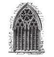 tracery interior vintage engraving vector image vector image