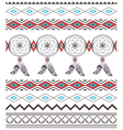 Tribal Boho Seamless Pattern with Dream Catcher vector image vector image