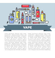 vape zone internet shop promotional poster with vector image vector image