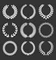 vintage decorative laurels elements set vector image vector image