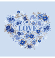 Vintage Floral Heart - for Valentines Day vector image vector image