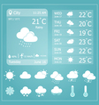 Weather Forecast Interface Template vector image vector image