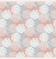 white and rose floral seamless pattern vector image