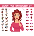 Woman Face Construction Kit vector image