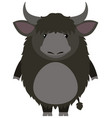 yak with happy face vector image vector image