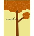 Card patterned brown tree vector image