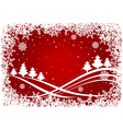 Christmas background with pines and snowflakes vector image