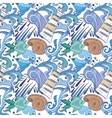 Nautical Blue Pattern vector image