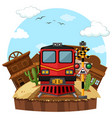 train ride to the western town vector image