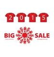 Christmas Big Sale red icon with Snowflake symbol vector image