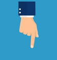 hand pointing with index finger vector image
