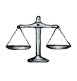 ustice scales vector image