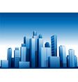 3d cityscape buildings background vector image vector image