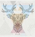 abstract polygonal tirangle animal deer