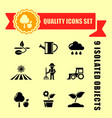 agriculture or garden icons with red tape vector image vector image