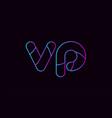 alphabet letter combination vp v p logo company vector image vector image