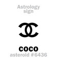 astrology asteroid coco vector image vector image