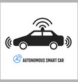 autonomous smart car icon design vector image