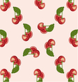 background red cherries vector image vector image