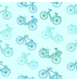 Bicycle seamless vector image vector image