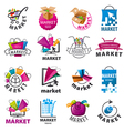biggest collection of logos for market vector image vector image