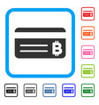 bitcoin banking card framed icon vector image vector image