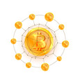 bitcoin network 3d polygon vector image