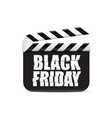 black friday sign on a movie clapper board vector image