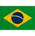 Brazil paper flag vector image vector image