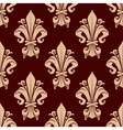 Brown vintage fleur-de-lis floral pattern vector image vector image