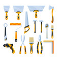 builder instrument big flat icon collection of vector image
