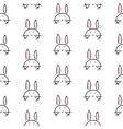 Bunny stylized line fun seamless pattern for kids vector image