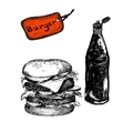 Burger with ketchup vector image