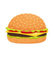 cheeseburger isolated on white background vector image