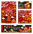 chinese new year holiday greeting card vector image vector image