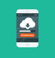 cloud computing app - download progress bar vector image vector image
